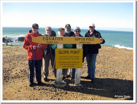 The gang at Slope Point.