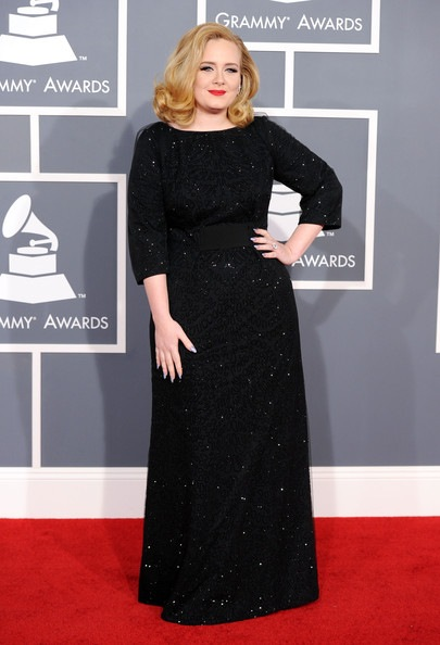 Adele arrives at the 54th Annual GRAMMY Awards