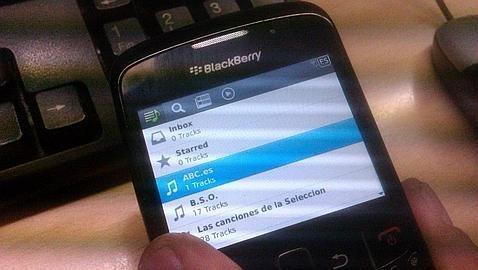 Spotify para BlackBerry