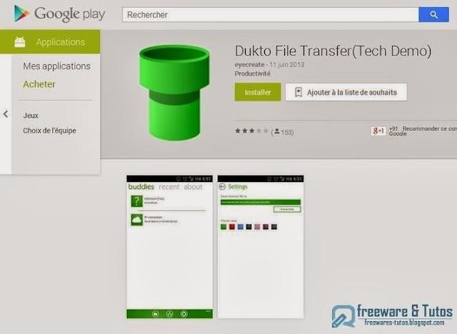 Dukto File Transfer(Tech Demo) : une application Android pour l'échange facilité de fichiers PC-Android