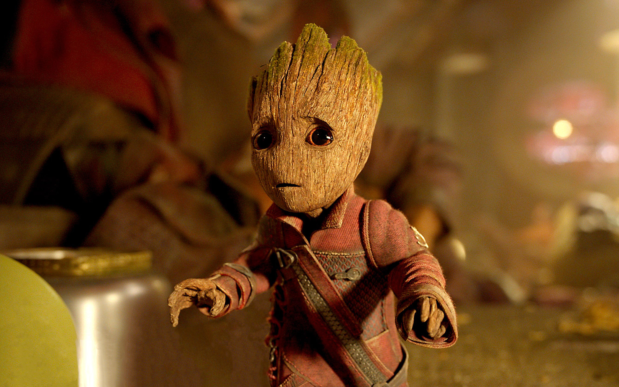 Baby Groot In Guardians Of The Galaxy Vol 2 Wallpapers Hd