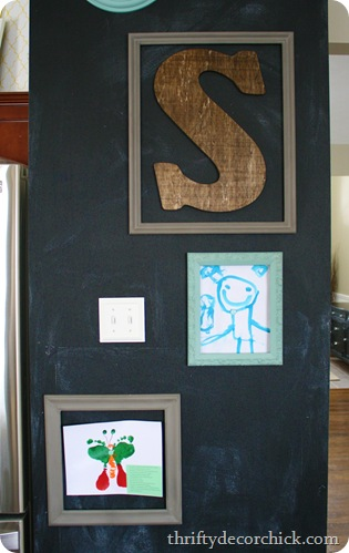 DIY magnetic art wall