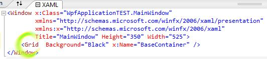 XAML w Visual Studio wymagana ręczna poprawna
