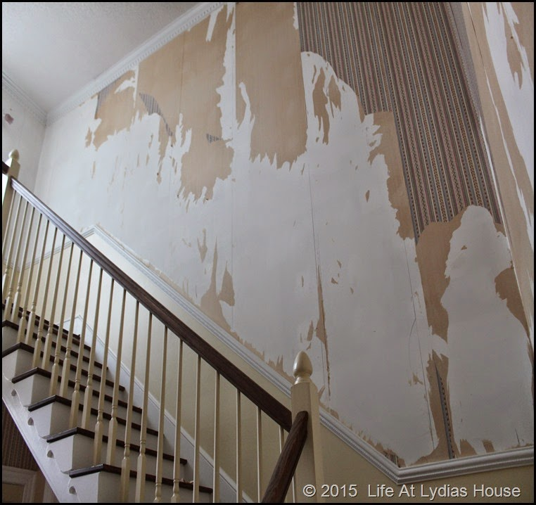 stairway paper removal