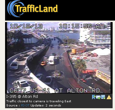 Alton Road flooding Miami Beach @TrafficLand