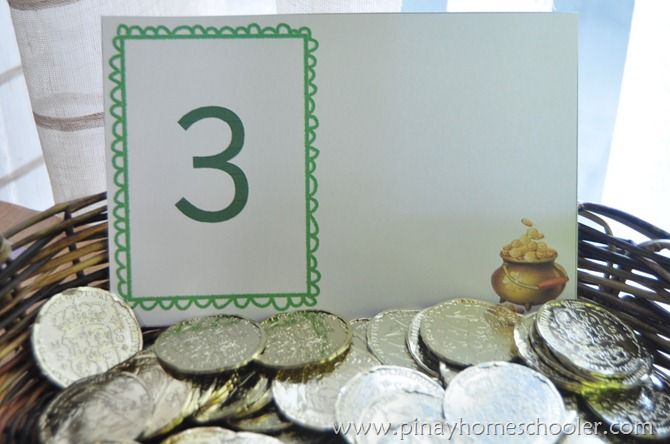 St. Patrick's Activity: Gold Coins Counting Activity
