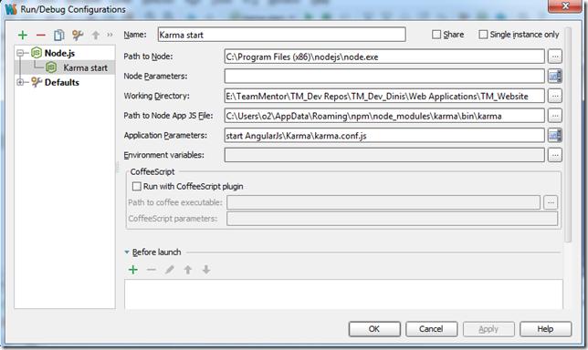 Dinis Cruz Blog: Adding KarmaJS support to WebStorm to