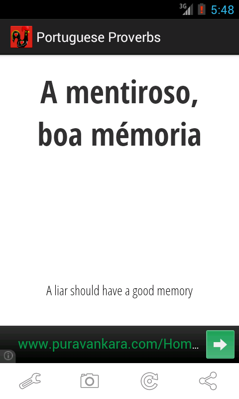 Portuguese Proverbs- screenshot