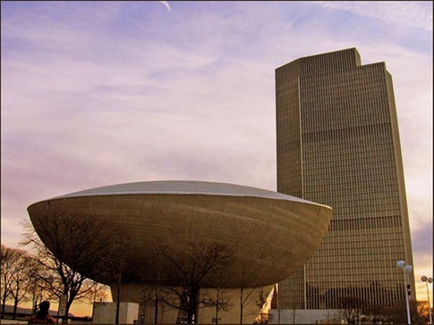 25. The Egg (Empire State Plaza, Albany, Nueva York, EE.UU.)