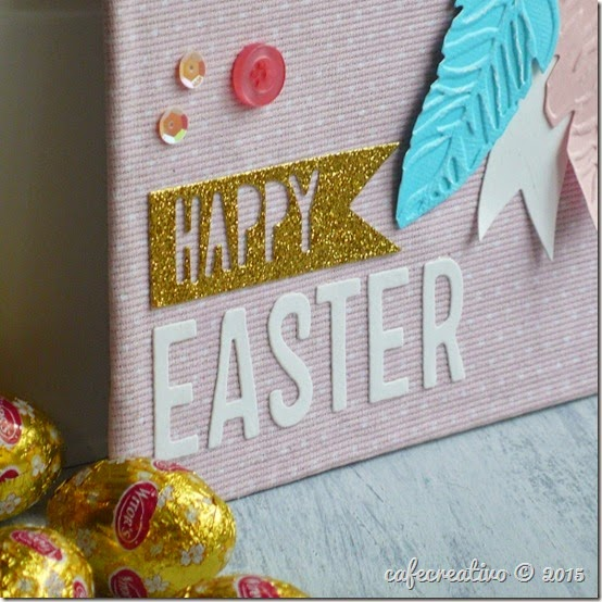 sizzix big shot - easter - canvas - home decor - pasqua decorazione - by Anna Drai - cafecreativo