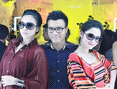 OPTICAL 88 DESIGNER EYEWEAR - ACTOR FREDERICK  LEE ACTRESS DEBBIE GOH LEAH LO SPECTACULAR SHOW 2012 –SPRING SUMMER FASHION WEEK AT MIDVALLEY MEGA MALL KUALA LUMPUR MALAYSIA