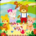 KUMA-JIRO with friends Free logo