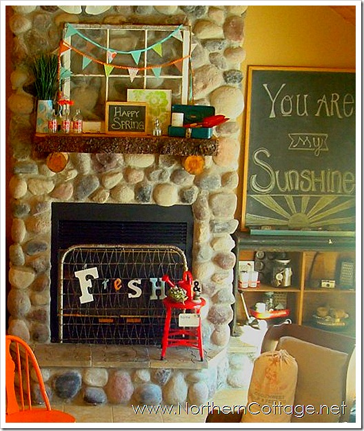 northern cottage mantel