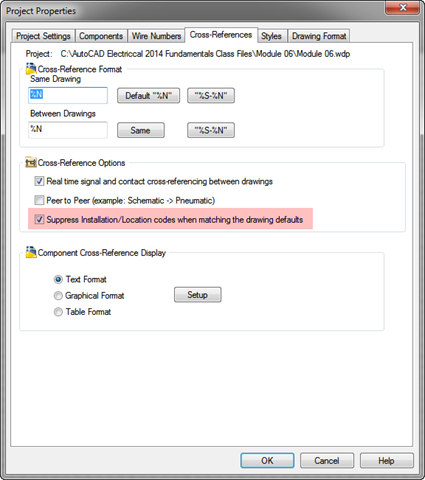 Terminal AutoCAD: Hiding Location (LOC) and Installation