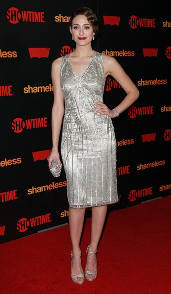 Emmy Rossum attends the premiere reception for Showtime's Shameless
