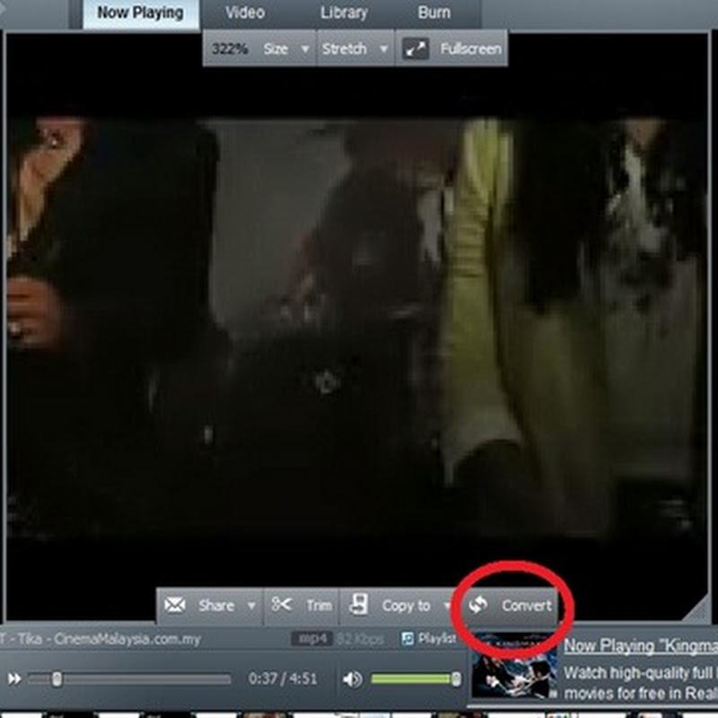 Cara Convert Video Kepada MP3 Menggunakan RealPlayer