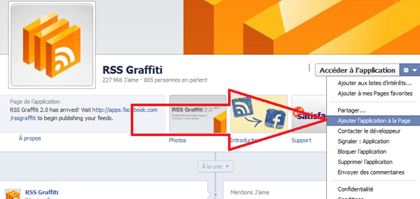 facebook RSS.Graffiti