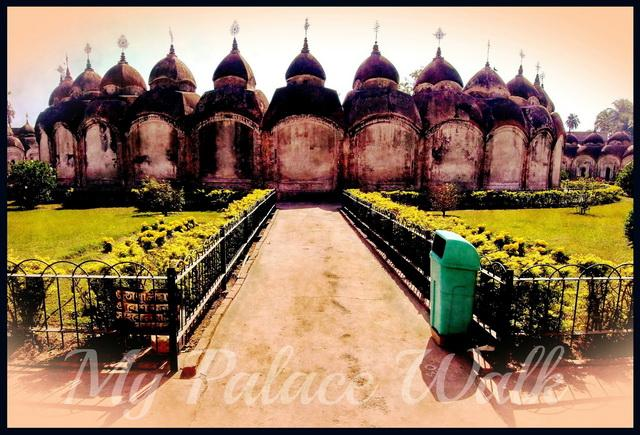 Garnder around inner circle of 34 Rajbari temples, Kalna, West Bengal