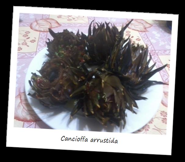 Fotografia del piatta della cancioffa arrustida