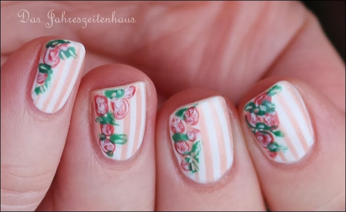 In Bloom Nail Art Roses Vintage Spring Design 2