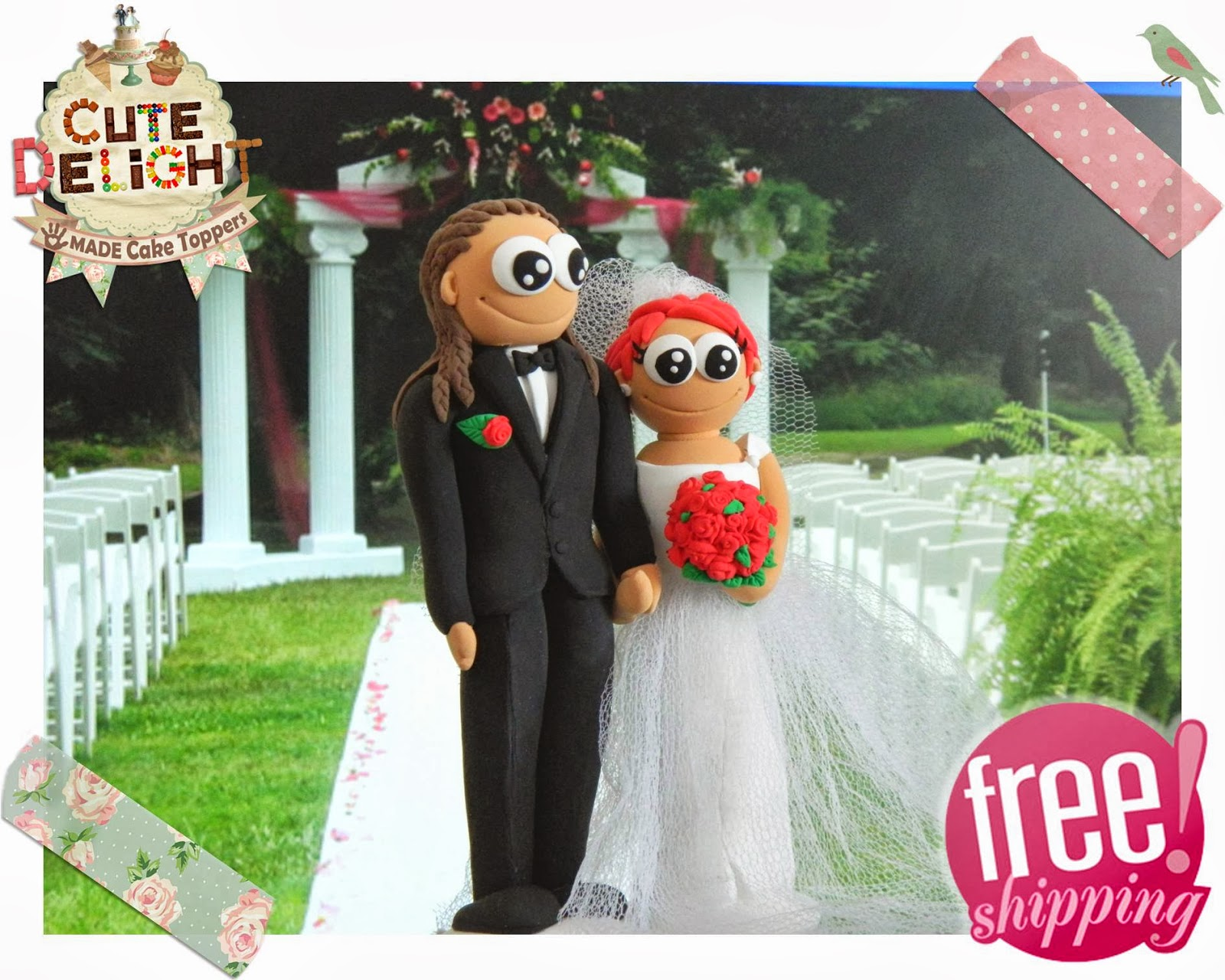 Groom With Dreads Cake Topper