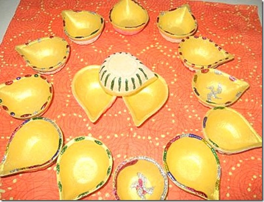 How to make design  your DIY diwali diya lamp at home