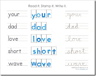 Read it. Stamp it. Write it. {Printables}