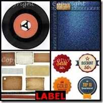 LABEL- 4 Pics 1 Word Answers 3 Letters