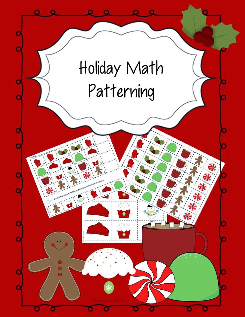 http://www.teacherspayteachers.com/Product/Holiday-Math-Patterning-967682