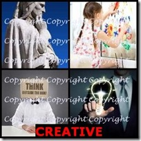 CREATIVE- 4 Pics 1 Word Answers 3 Letters