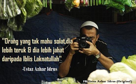 kata-kata pedoman Ustaz Azhar Idrus