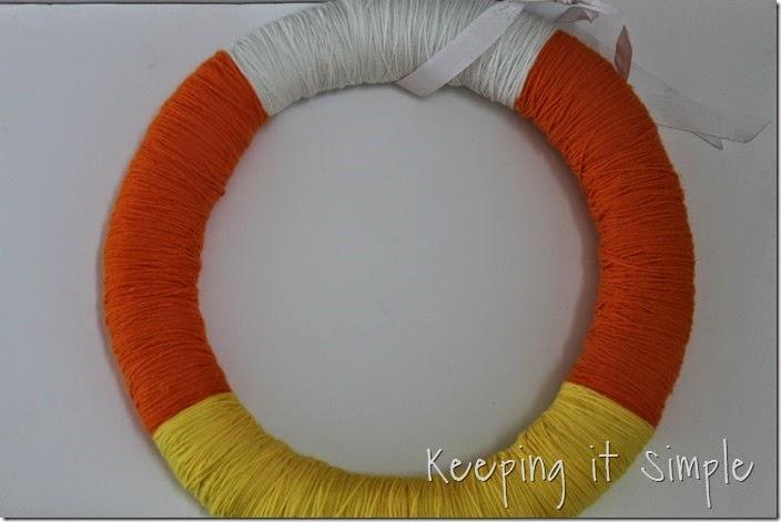 Halloween Wreath- Candy Corn Wreath (3)