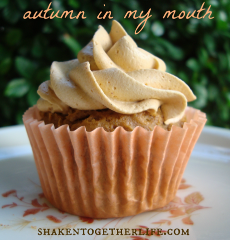 pumpkin spice cupcakes autumn BLOG