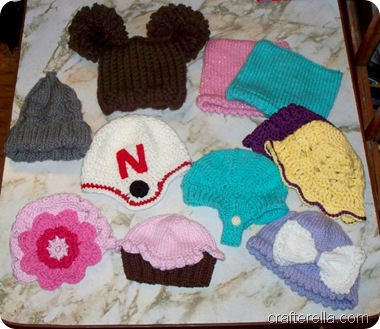 lots of baby hats
