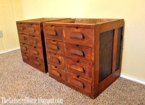 Found: Vintage Hardware Store Cabinets - Found: Vintage Hardware Store Cabinets - The Gathered Home