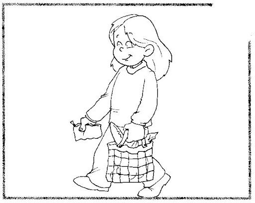 Dibujo Para Colorear De Un Niño Haciendo Tarea Imagui