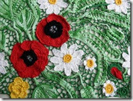 irish crochet poppy top how to 2