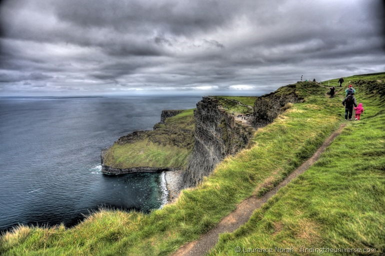 Cliffs of Moher people hdr
