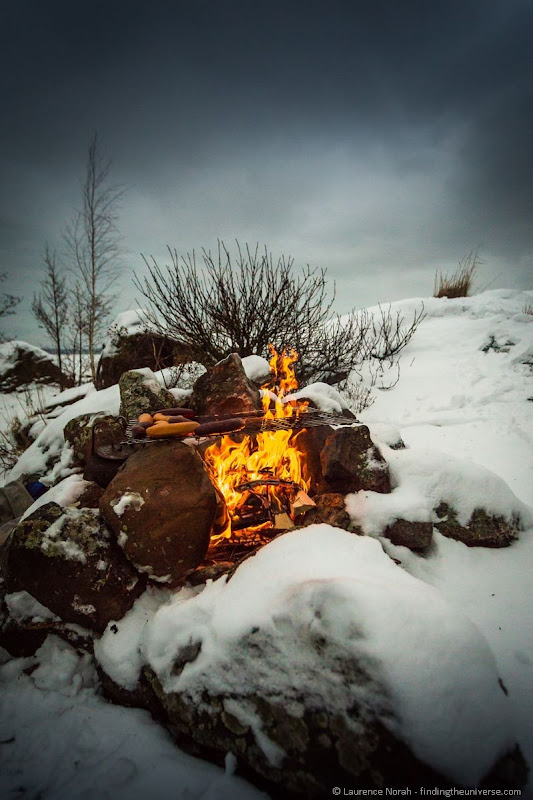 sausages on the fire rauma finland