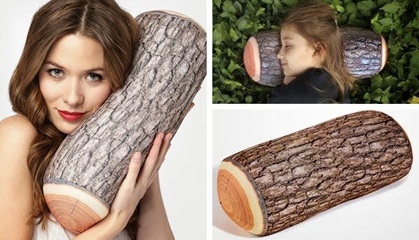 Log-Pillow for christmas camping gift