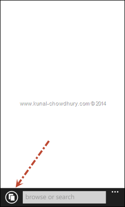 "Click the ""Tabs"" button at the bottom left corner of the screen (www.kunal-chowdhury.com)"