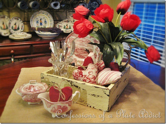 CONFESSIONS OF A PLATE ADDICT Rustic French Valentine Centerpiece