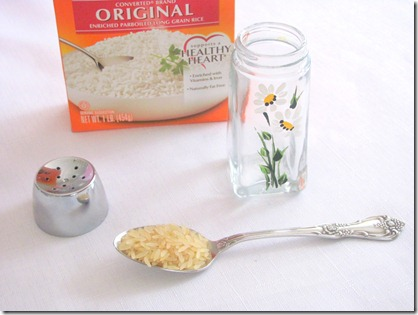 rice in salt shaker