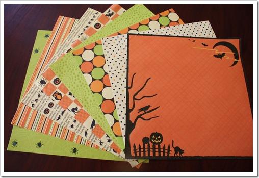 Halloween Scrapbook Paper