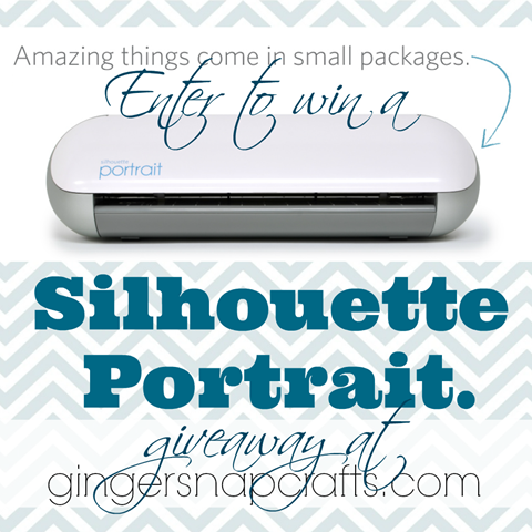 enter to win a Silhouette Portrait #giveaway #gingersnapcrafts #silhouette