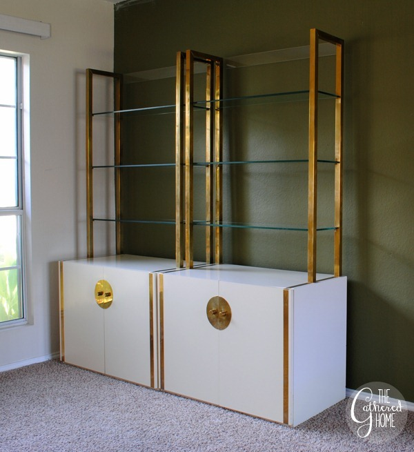 Brass and White Lacquer Etageres 4