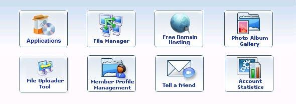 O painel do controle do servidor do WebNG.