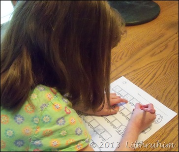 Using a TouchMath worksheet