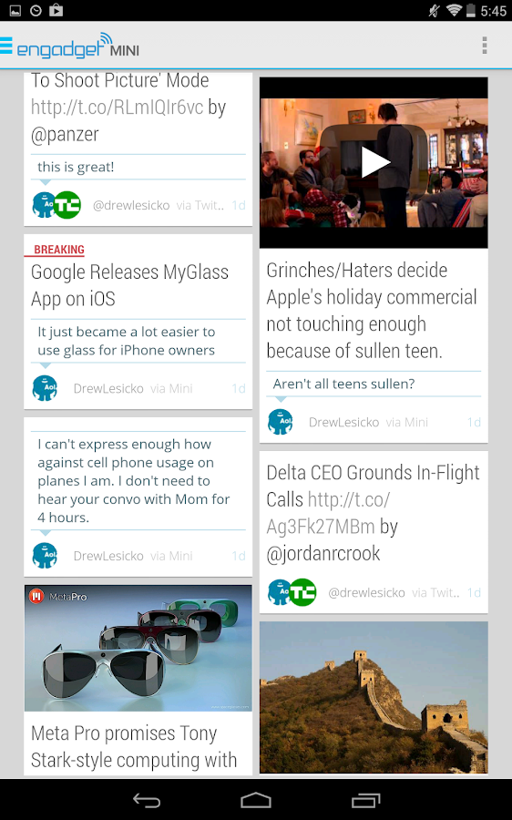Engadget Mini- screenshot