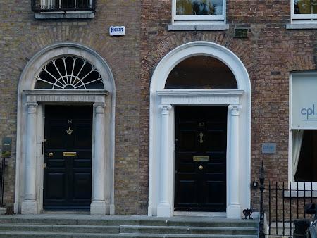 Imagini Irlanda: case georgiene in Dublin